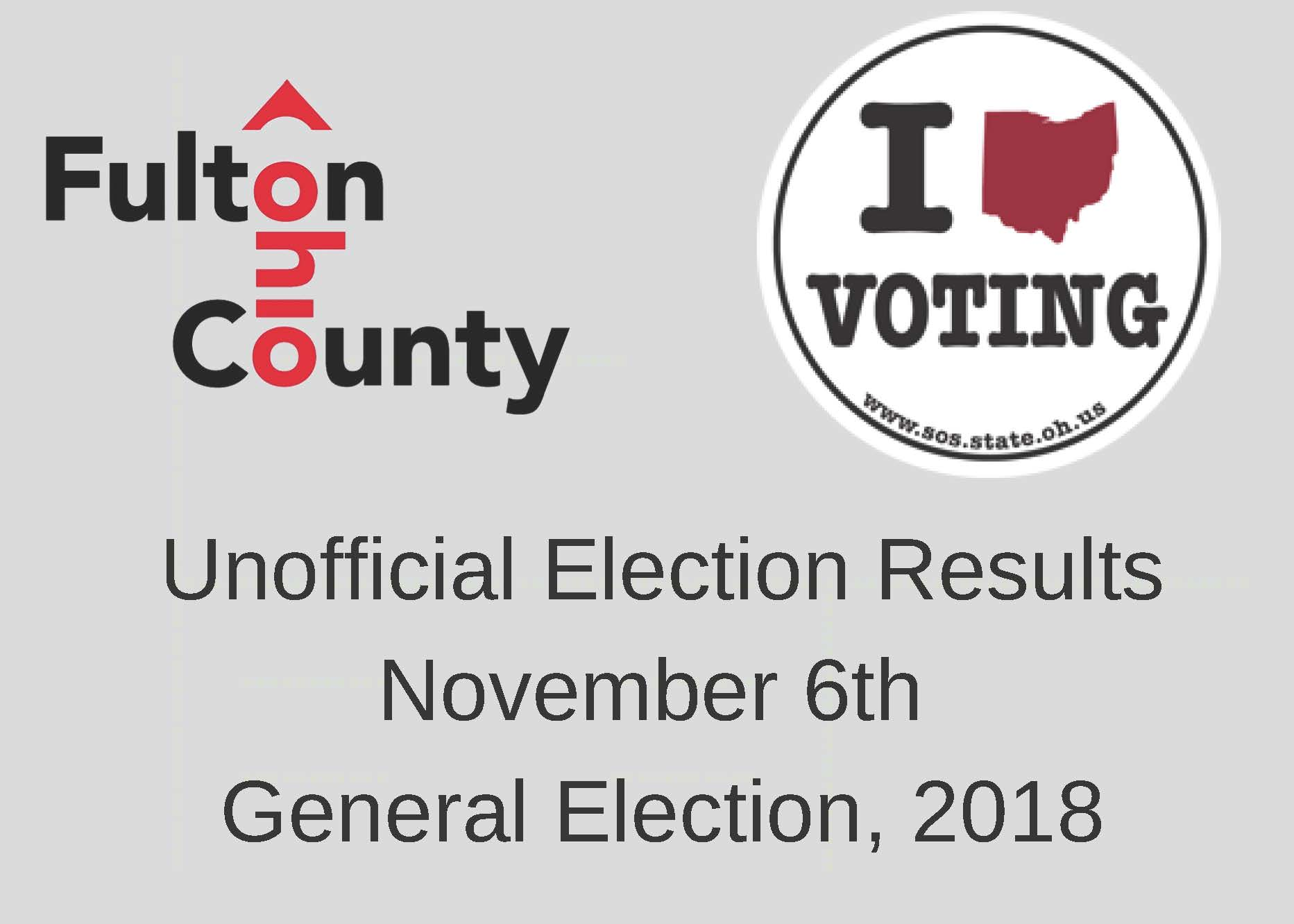 Unofficial Election Results November 2018 Promotional Image
