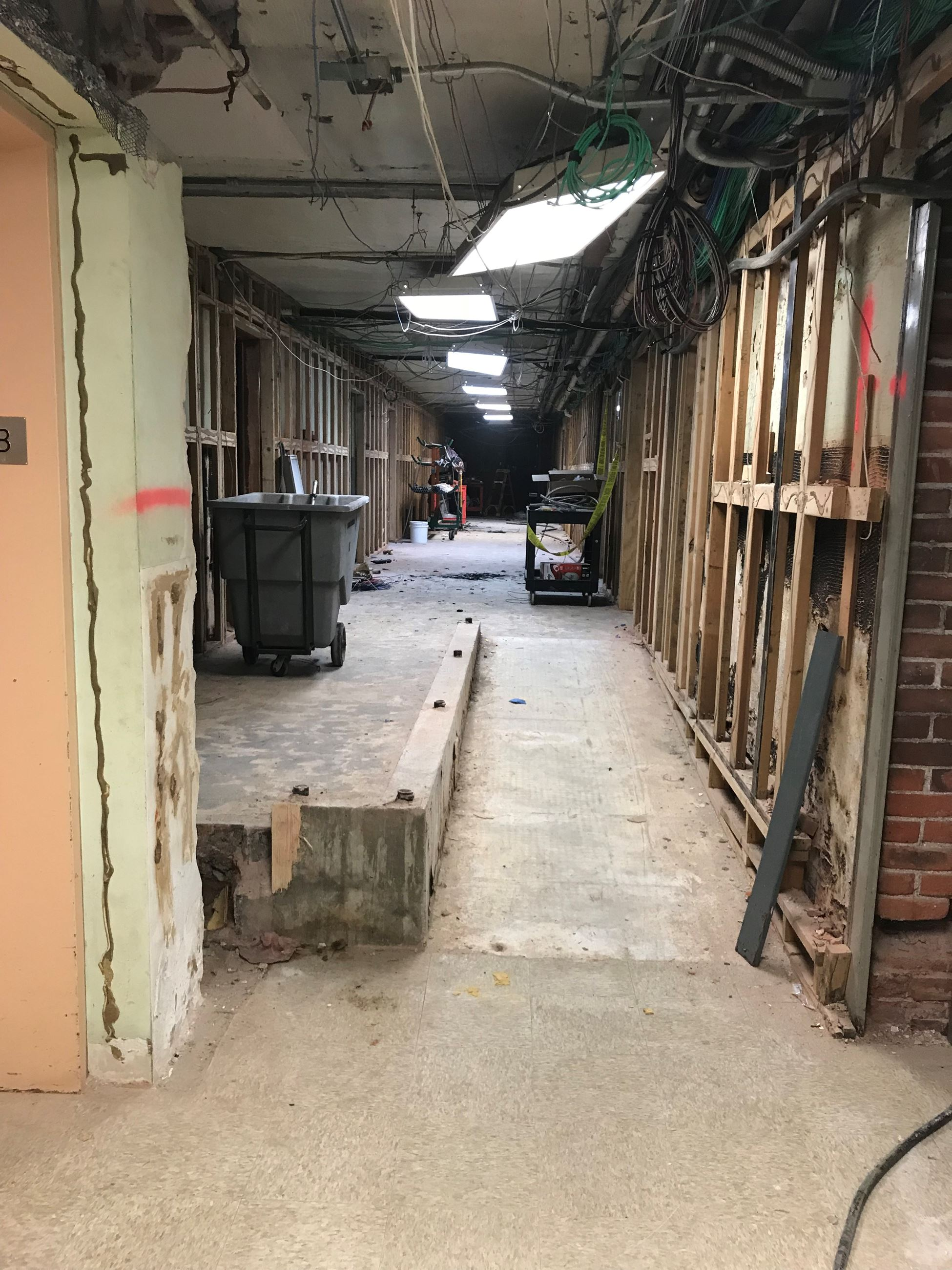Photo of the Courthouse Basement 11.28.18 during rennovation
