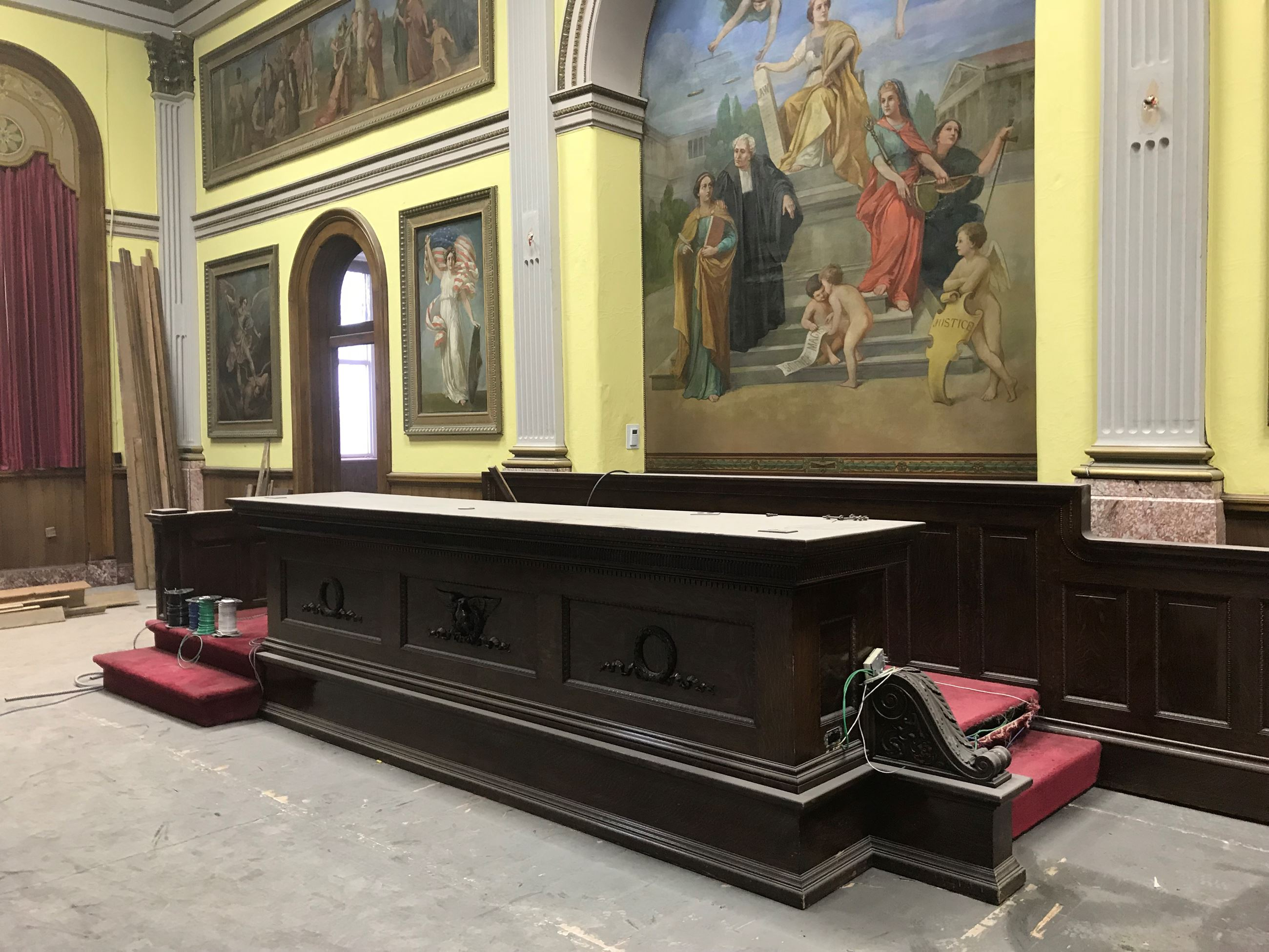 Common Pleas Bench during rennovation 11.28.18