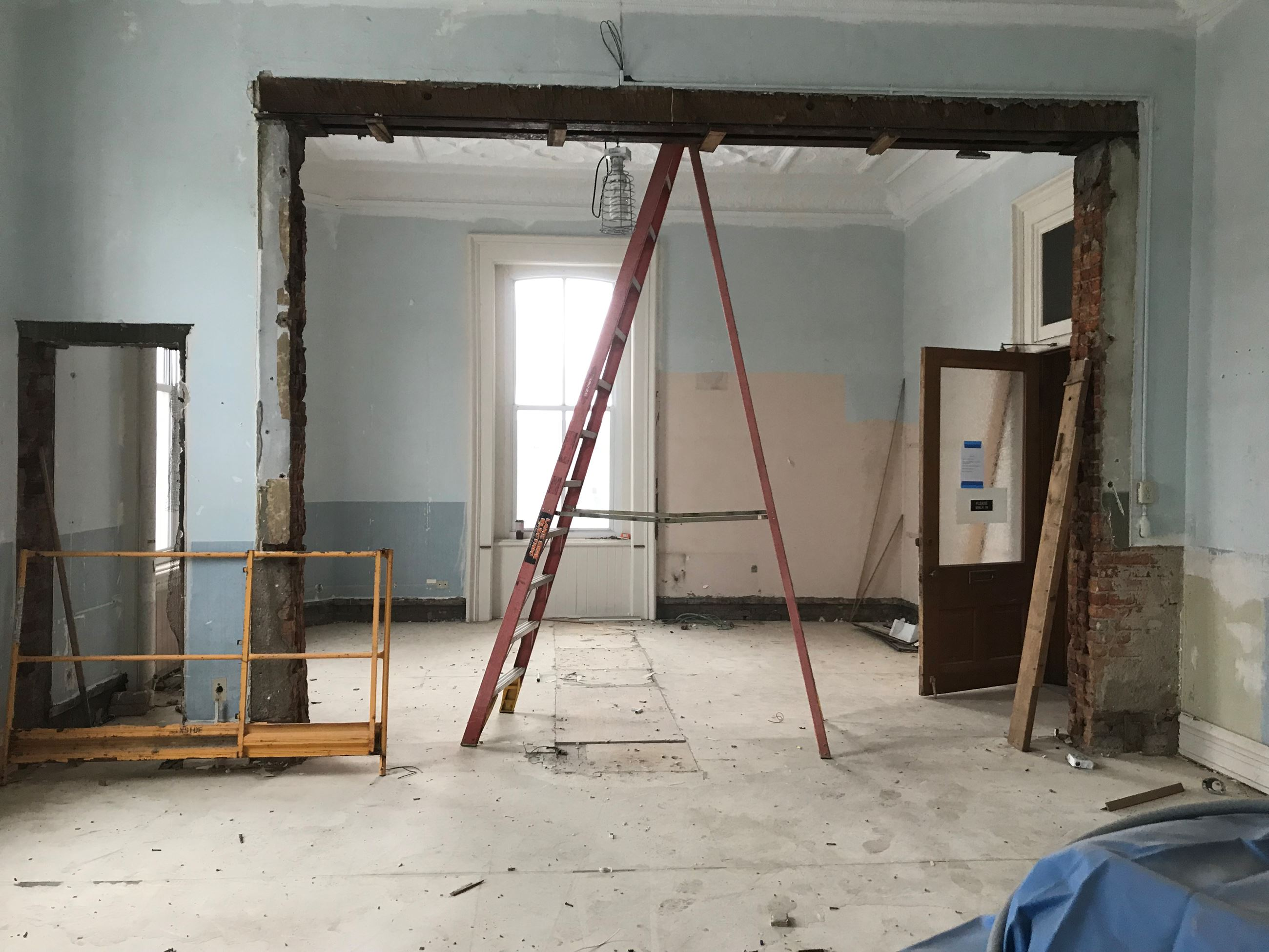 Common Pleas Court Office during rennovation 11.28.18