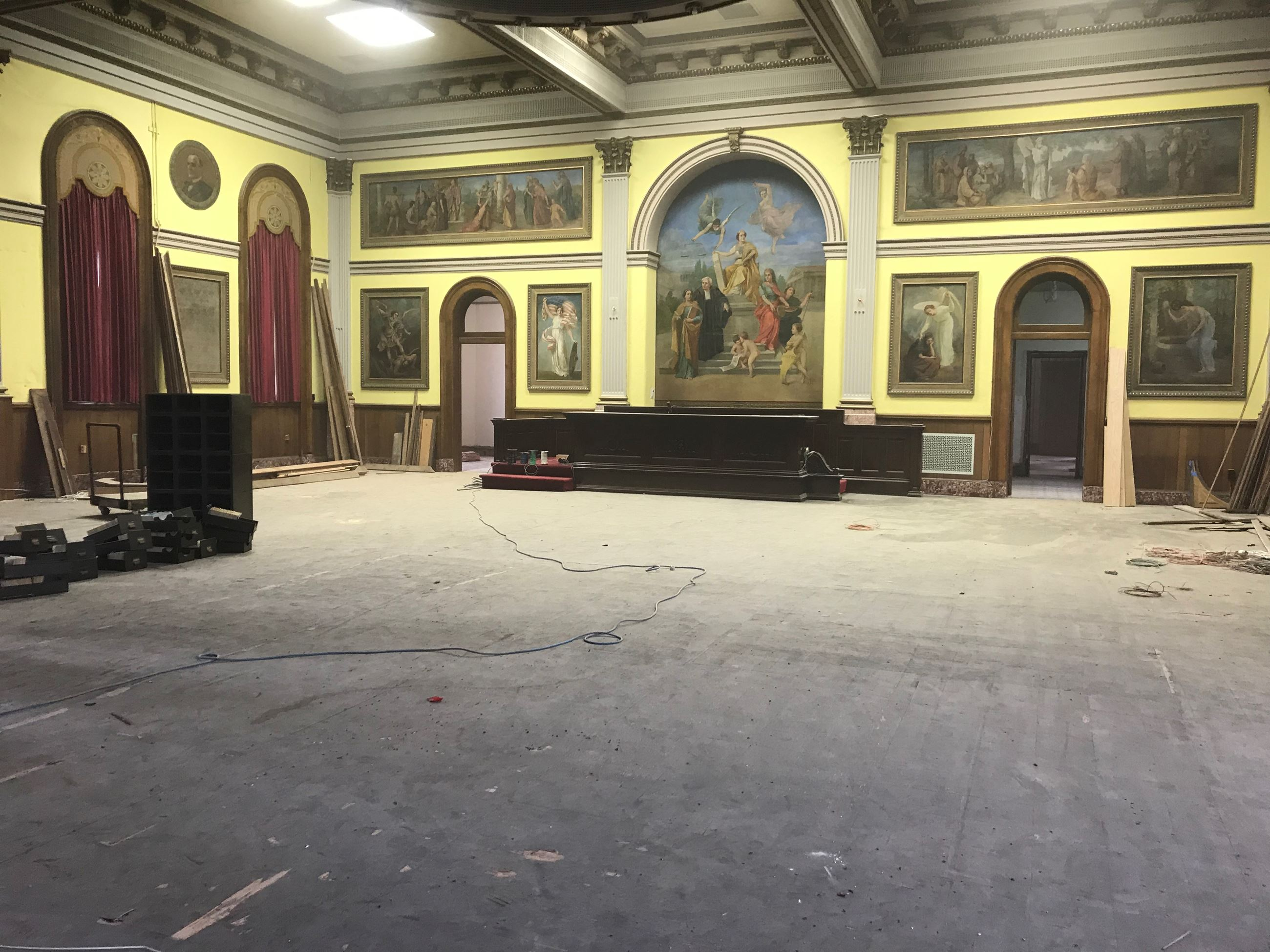 Common Pleas Courtroom during rennovation 11.28.18