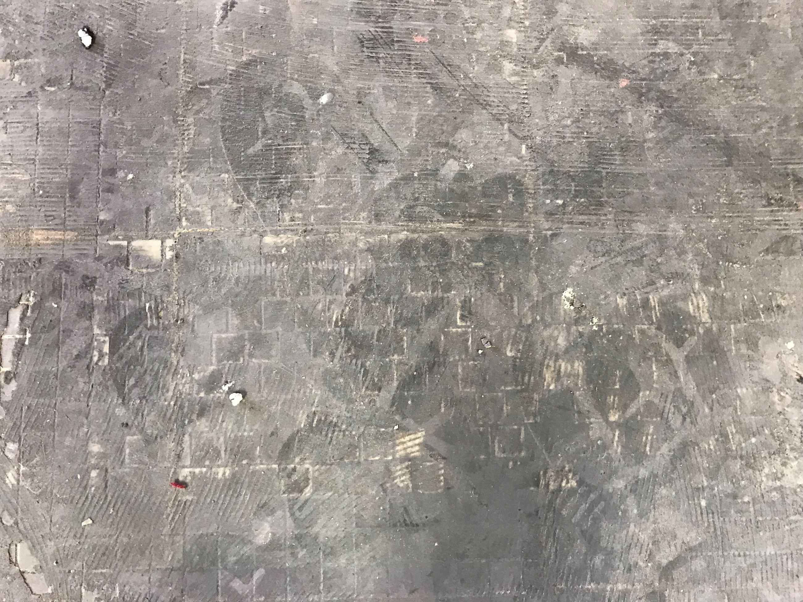 Mosaic Floor covered in Glue in Common Pleas Courtroom 11.28.18