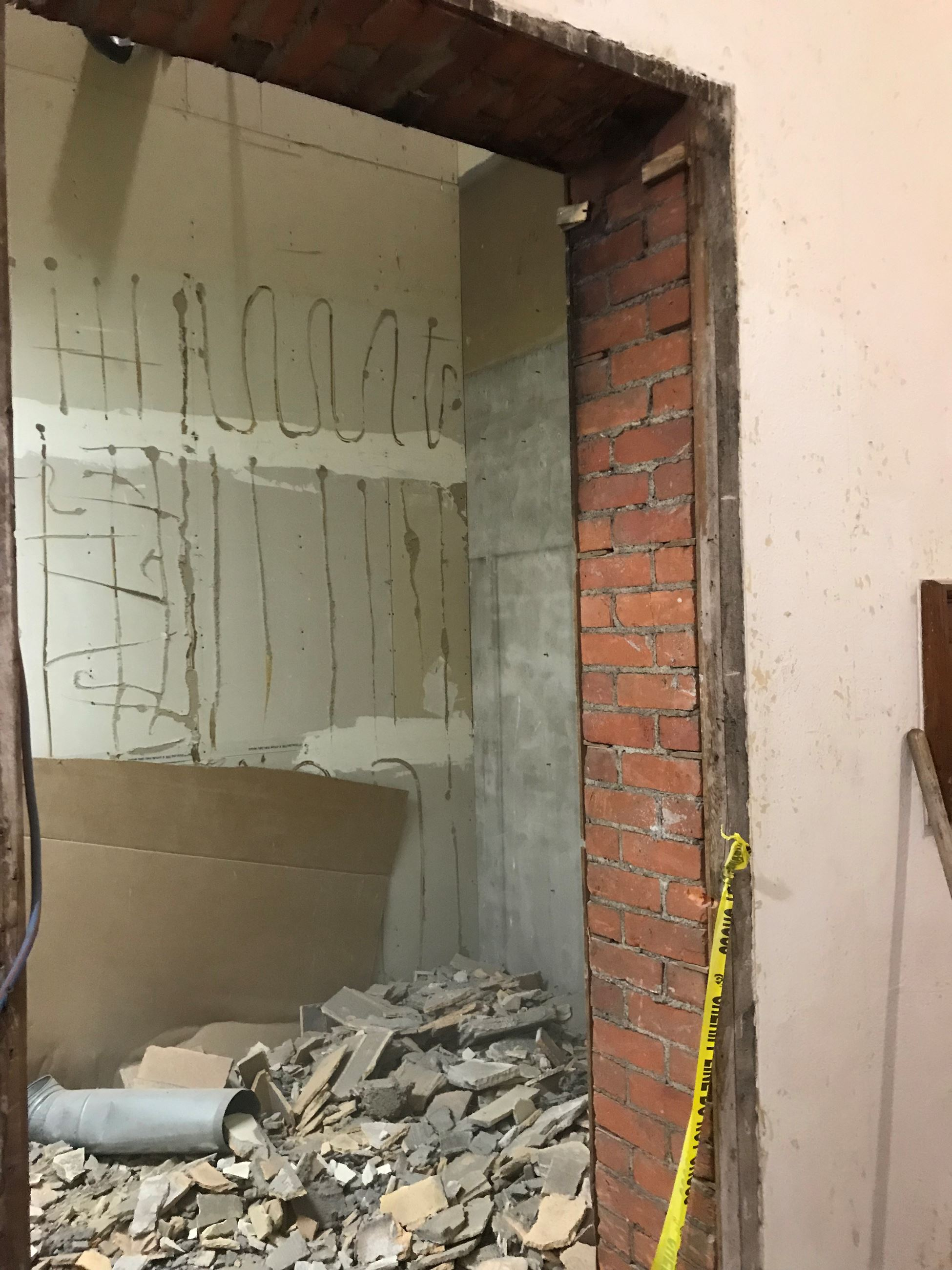 Exposed Brick from inside the courthouse during rennovation 11.28.18