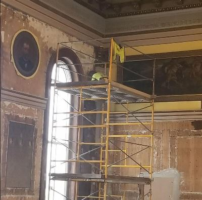 Scaffolding in the common pleas courtroom