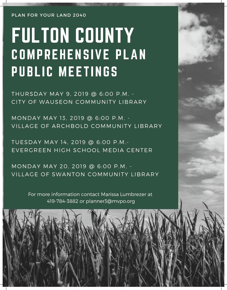 Public meeting Flyer