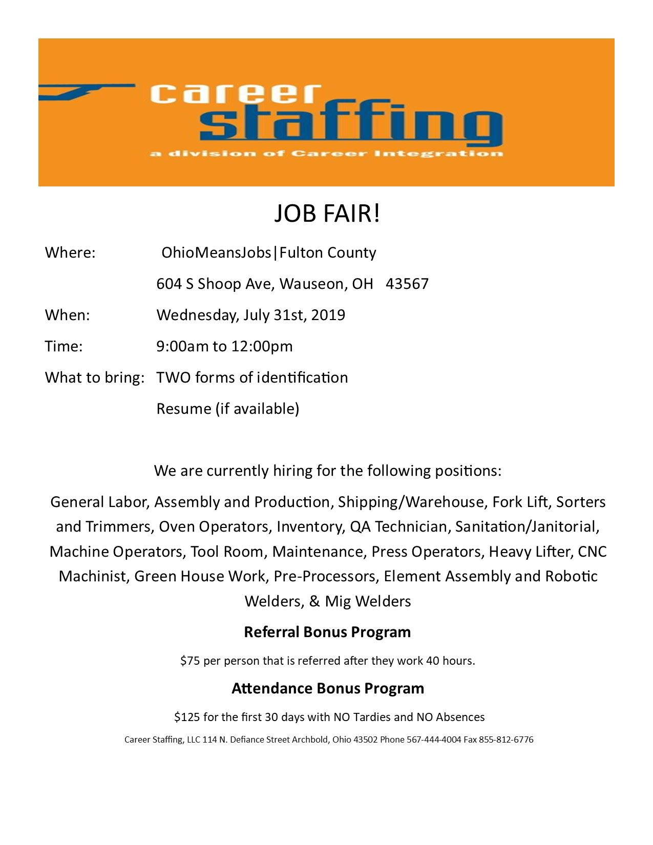Career Staffing July31,2019