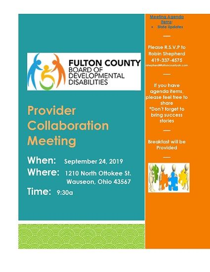 Sept_24_2019 Provider Collaboration Meeting flyer