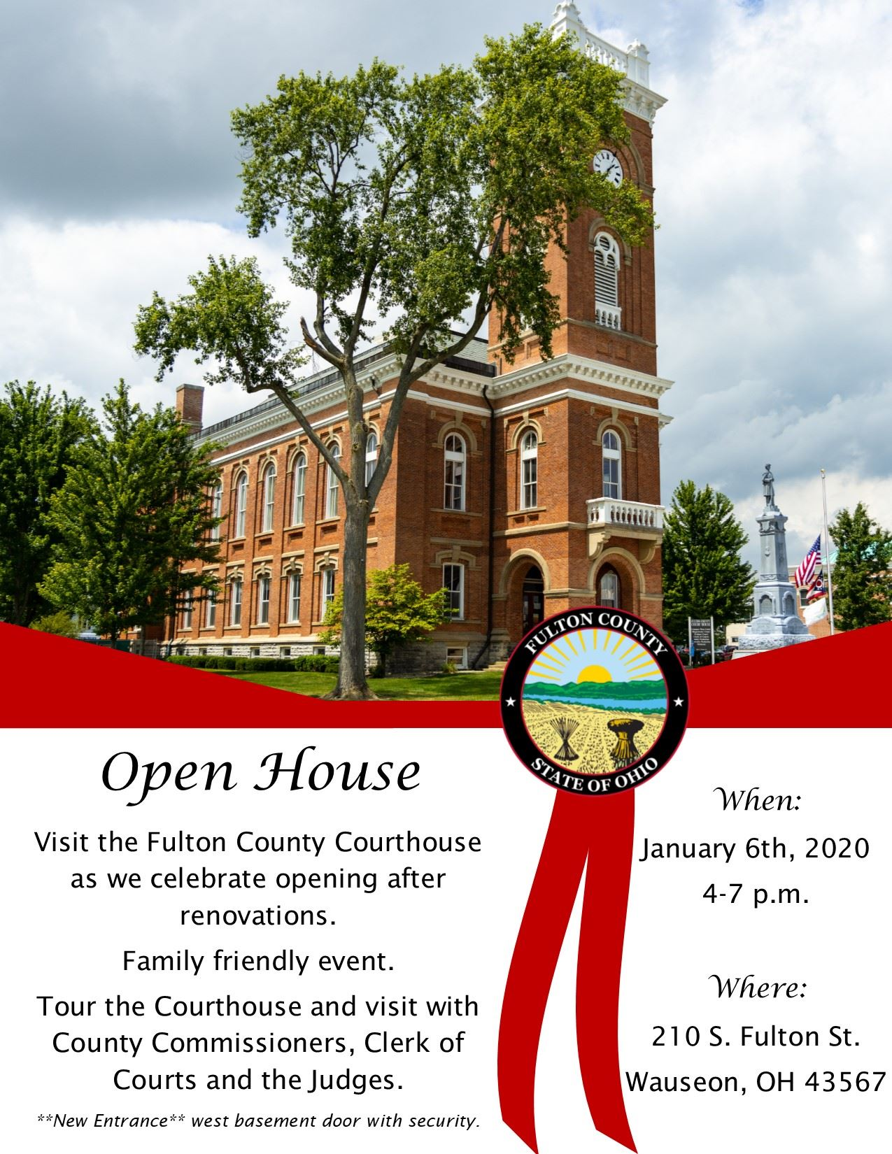 Invitation Courthouse Open House 2020