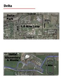 Delta Walking Map