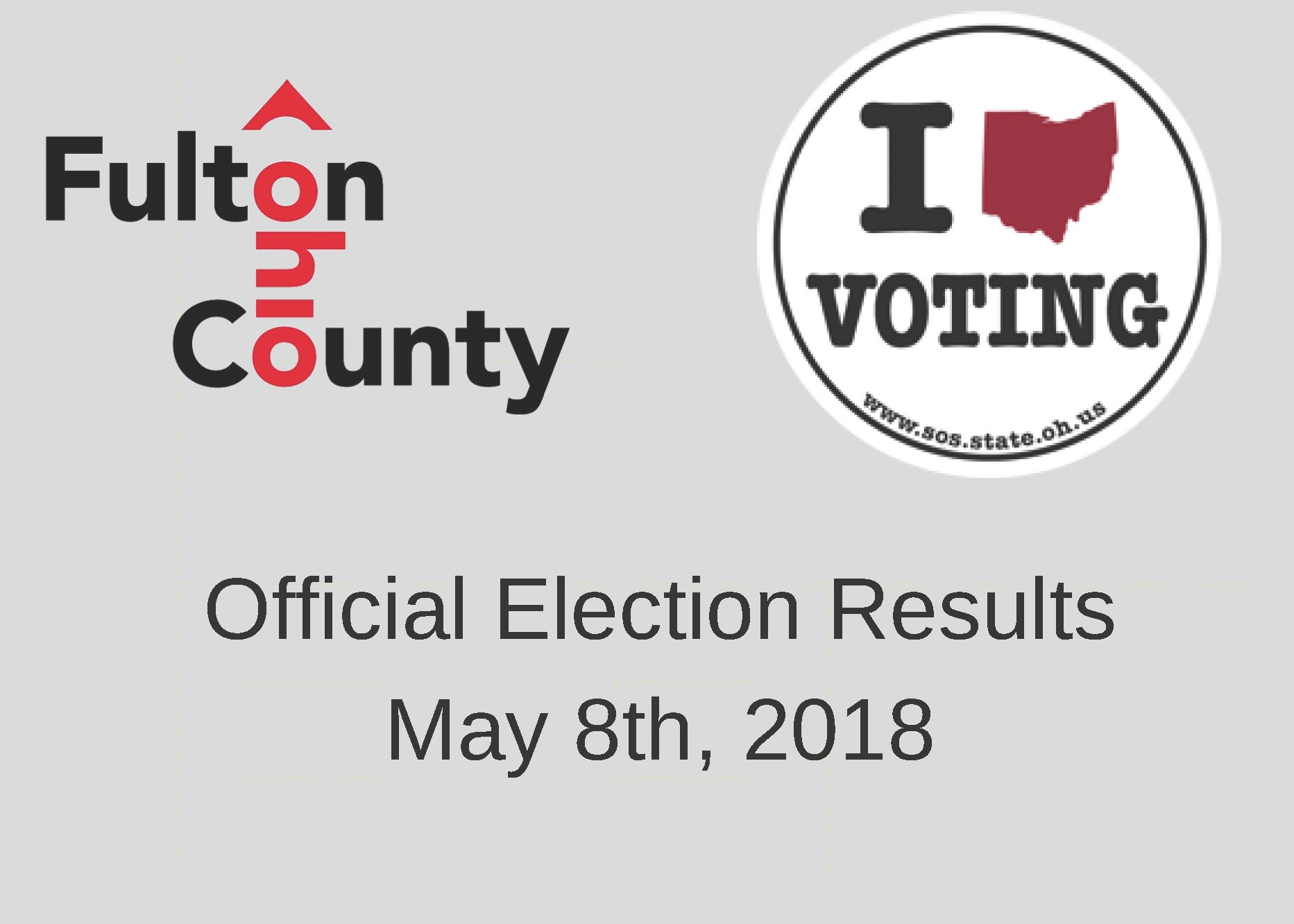 Official Election Results May 8th, 2018 Promotional Image