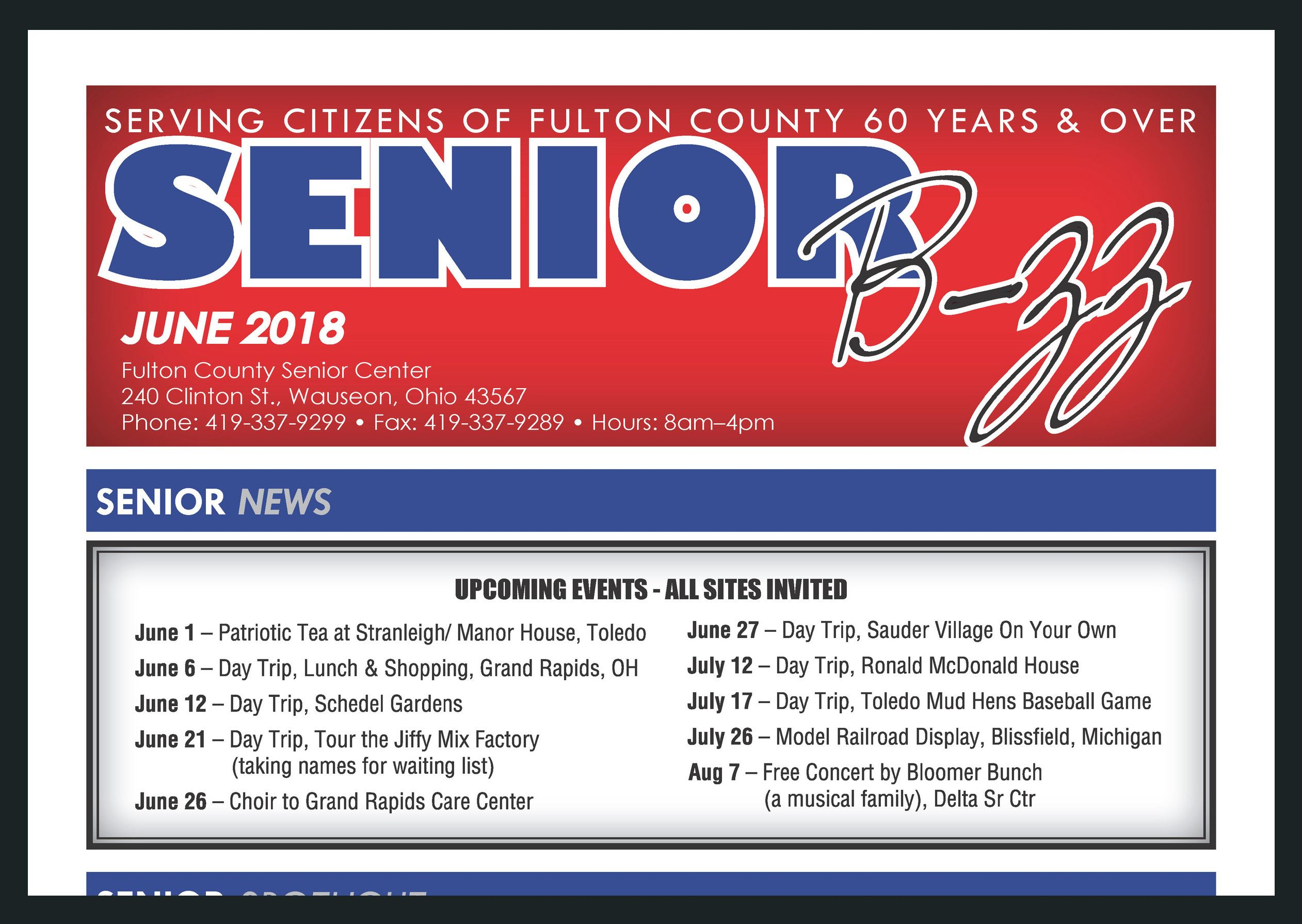 Senior B-zz June 2018 Image