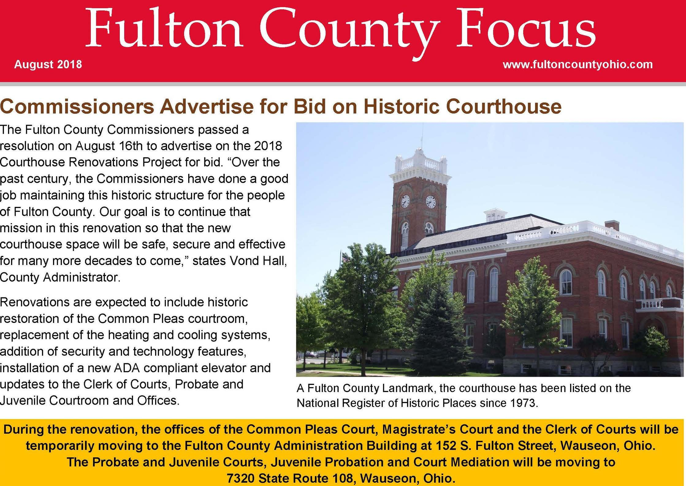 Image for the August 2018 Fulton County Focus