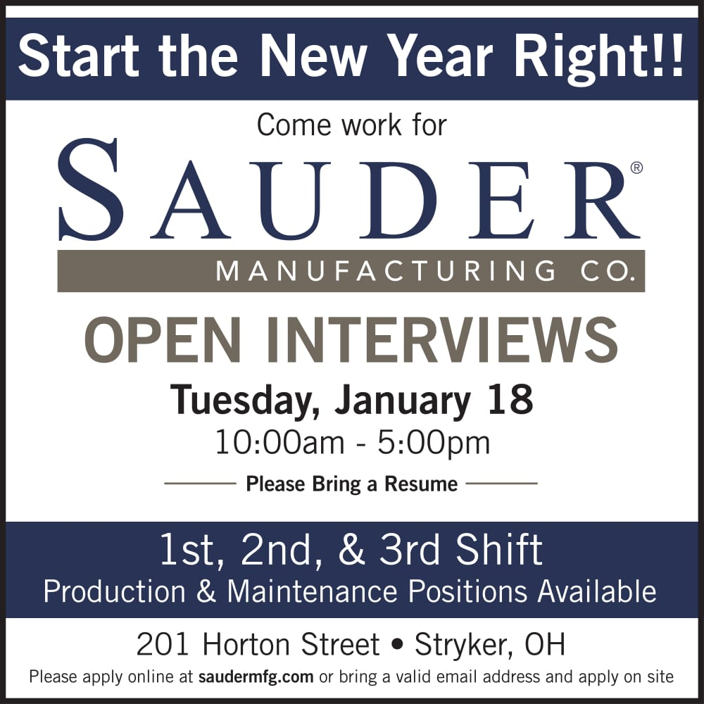 Sauder Manufacturing Open Interviews-2018