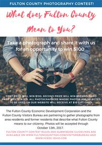 Flyer for Fulton County Photo Contest