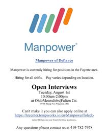 Manpower open interviews