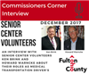 Ken Brink and Howard Warncke share Volunteer Experiences with the Commissioners Corner