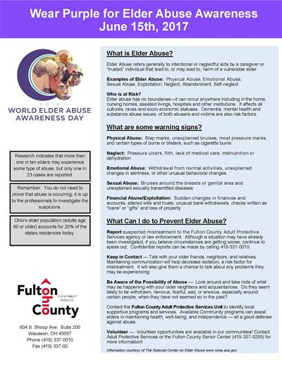 Elder Abuse Awareness Fact Sheet